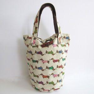 Handbags - Small Canvas Tote Bag Dog Print